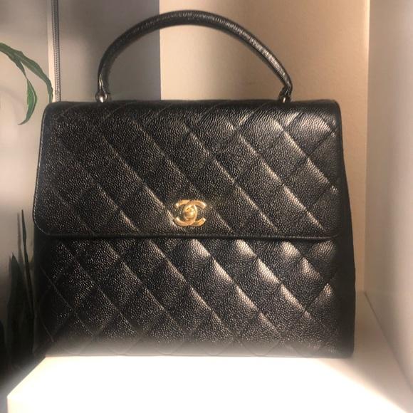 9f6e03d4d761 CHANEL Bags | Auth Black Caviar Kelly Handbag | Poshmark